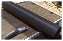 Charcoal Black Fiber Mesh for Windows and Doors Installation